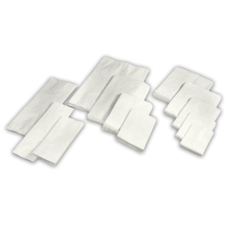 Hvide papirsposer 160/80 x 375 mm - 250 stk