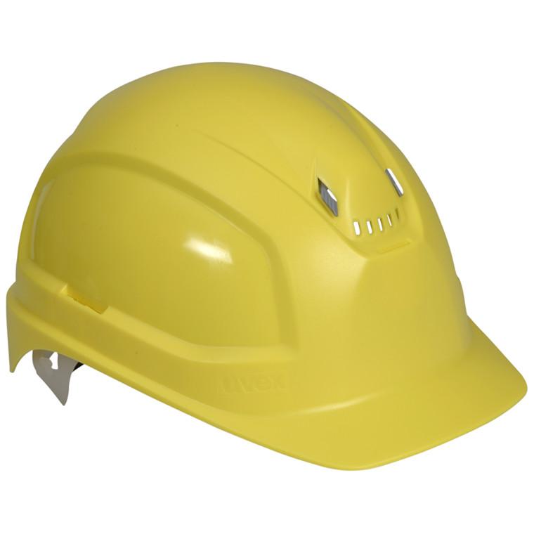 Gul Sikkerhedshjelm - Uvex Pheos B - Størrelse 51 til 61 cm