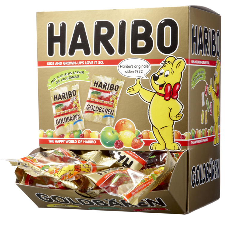 Guldbamser Display, Haribo, 100 poser,