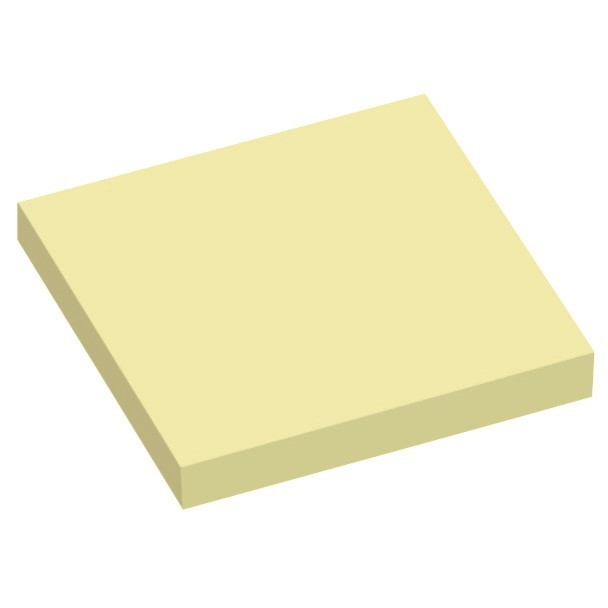 Gule Notes - Q-Line 75 x 75 mm - 12 blokke