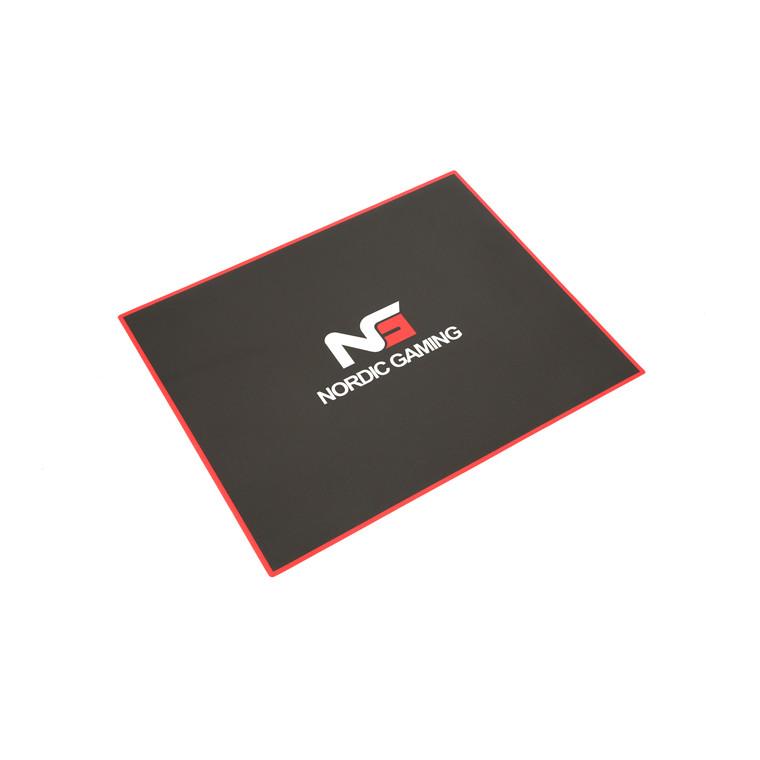 Gulvmåtte Nordic Gaming Guardian sort - rød 120x100cm