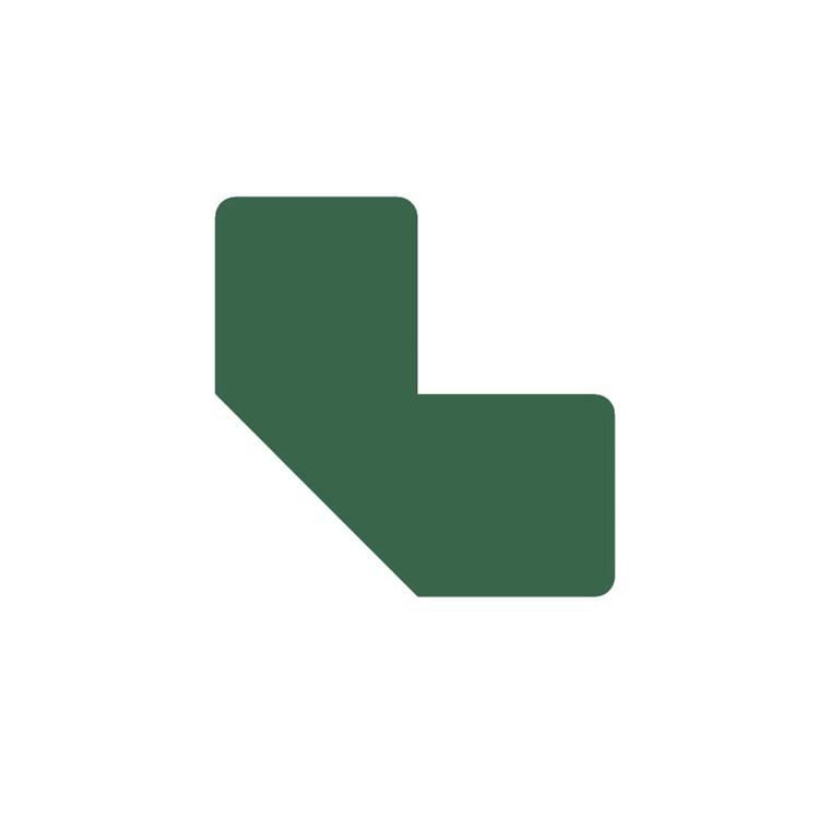 Gulvmærker - L form grøn bredde 50 mm - 10 stk
