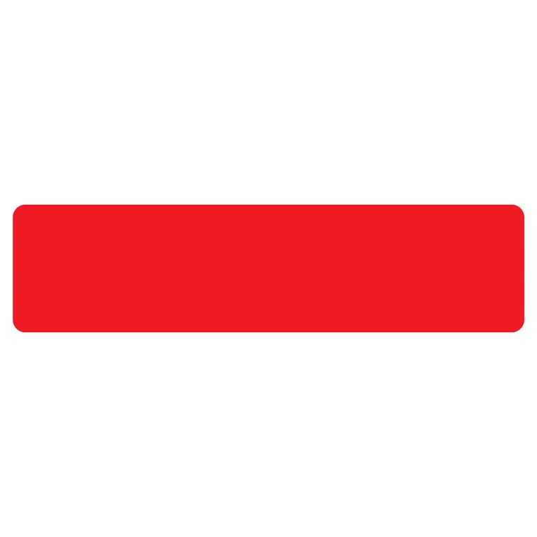 Gulvmærker - striber rød bredde 50 mm - 10 stk