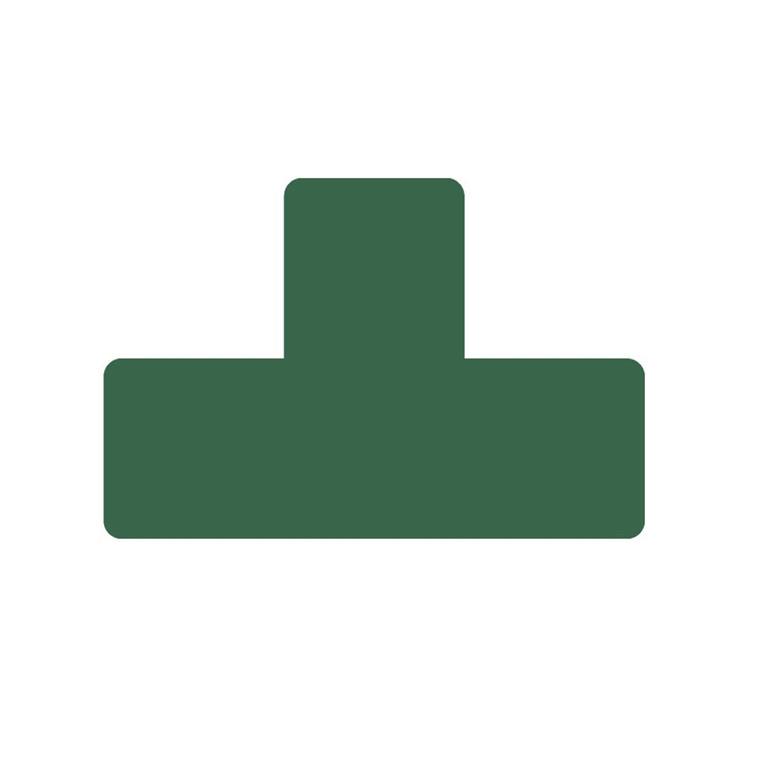 Gulvmærker - T form grøn bredde 50 mm 10 stk