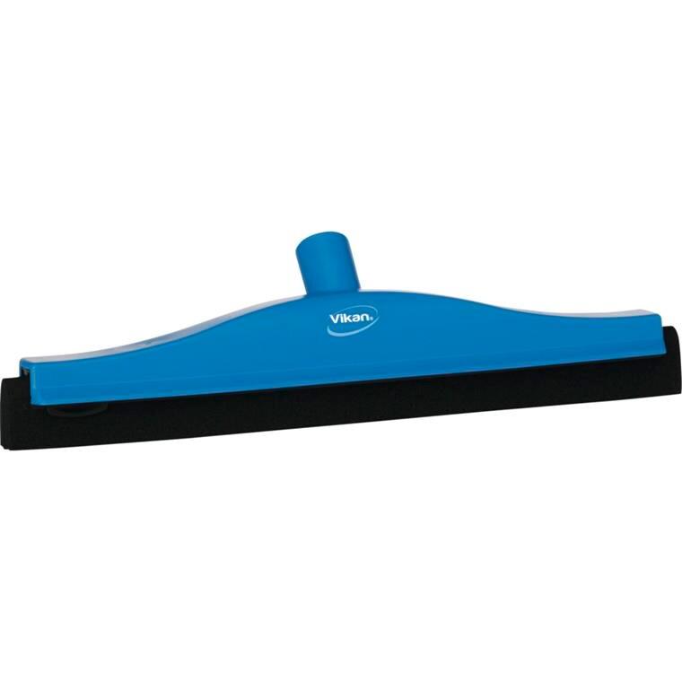 Gulvskraber, Vikan Hygiejne, blå, fast led, dobbeltblad, 40 cm