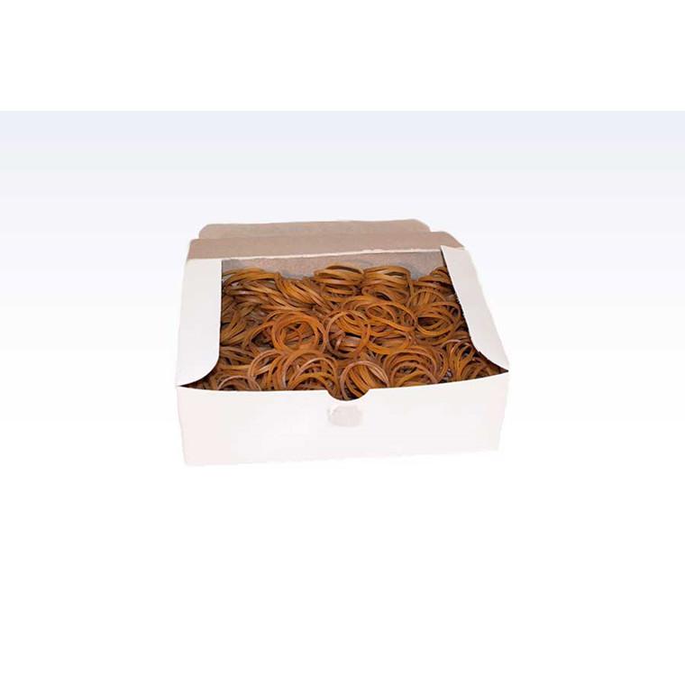 Gummibånd brun - nr 8 25 mm 250 g i æsken