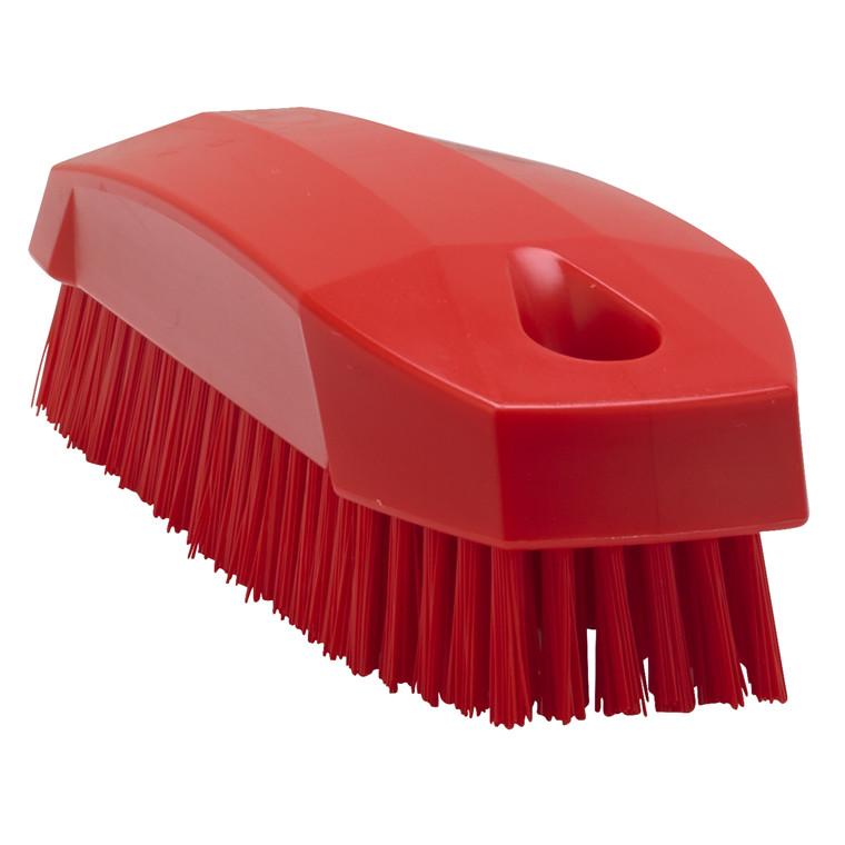 Vikan Håndbørste Rød - Stive børstehår - Længde: 130 mm