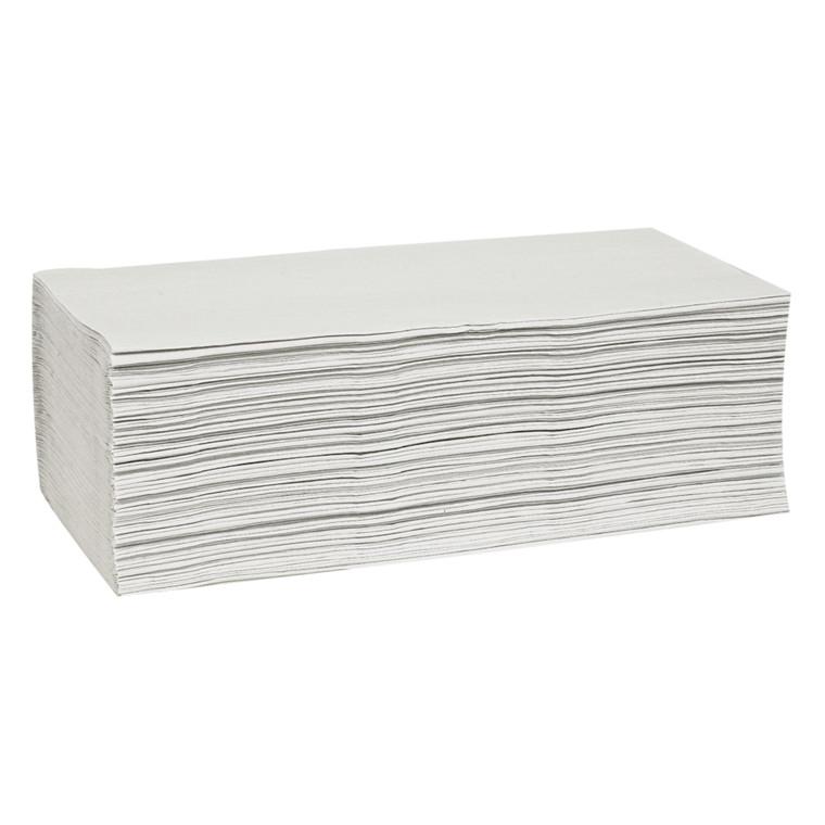 Håndklædeark 1-lags hvid Bredde 25 cm | Længde 23 x 11,5 cm