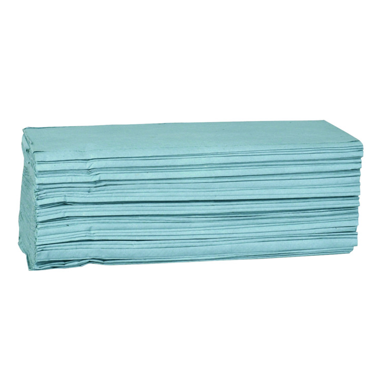 Håndklædeark, 1-lags, multi fold, 23x25cm, 11,5 cm, blå, 100% genbrugspapir