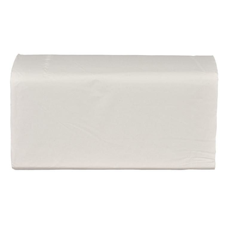 Håndklædeark, 2-lags, V-fold, 23x24cm, 11,5 cm, hvid, blandingsfibre