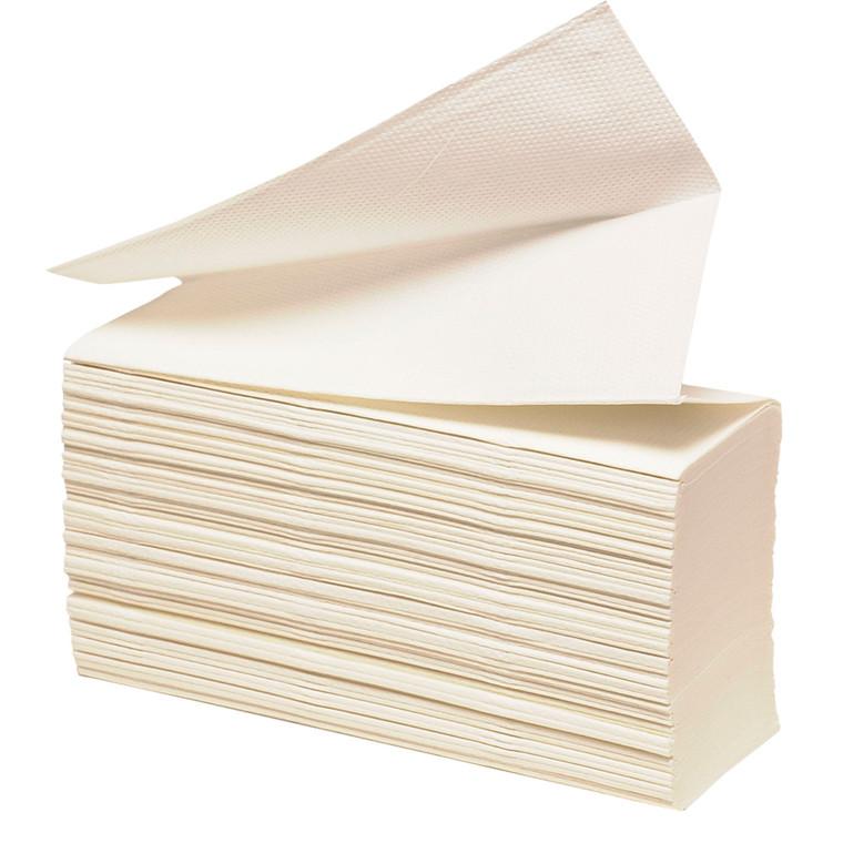 Håndklædeark, 3-lags, W-fold, 32x23,5cm, 8 cm, hvid, 100% nyfiber