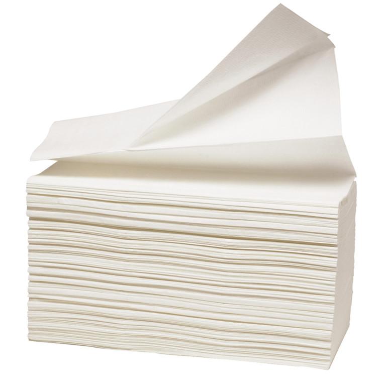 Håndklædeark Care-Ness Excellent 1-lags hvid Bredde 23 cm - Længde 24 x 8 cm