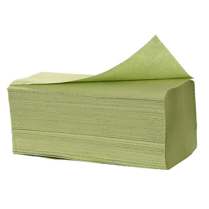 Håndklædeark Care-Ness Nature 1-lags grøn Bredde 25 cm - Længde 33 x 9,50 cm