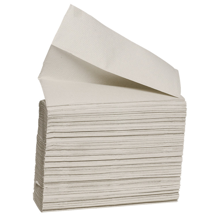 Håndklædeark Care-Ness Nature 1-lags natur Bredde 21 cm | Længde 24 x 8 cm