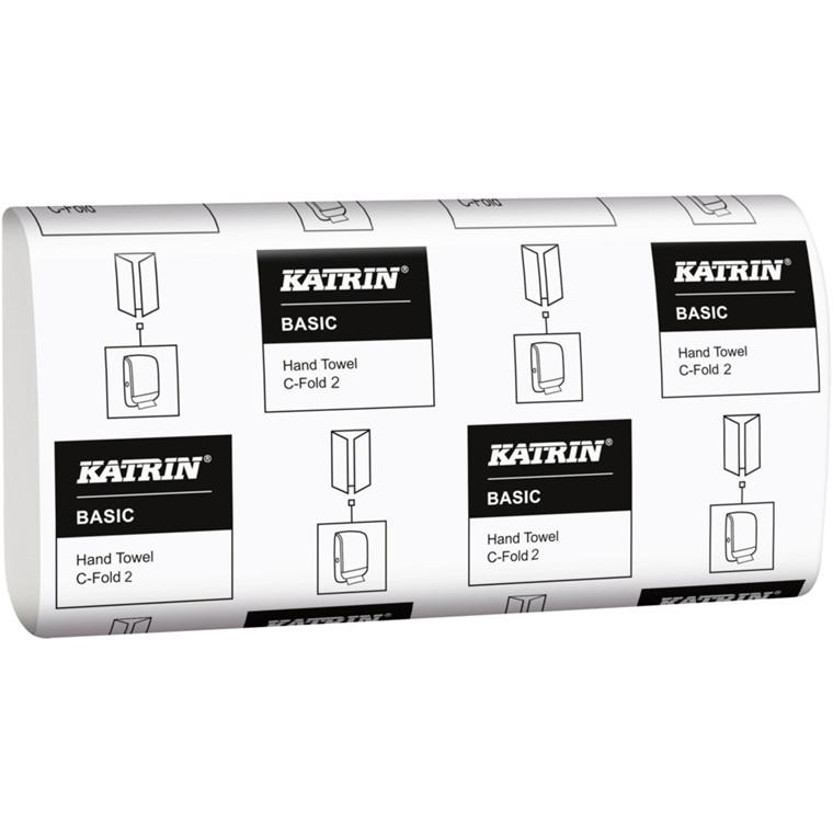 Håndklædeark Katrin Basic 2-lags natur Bredde 24 cm   Længde 33 x 9,5 cm