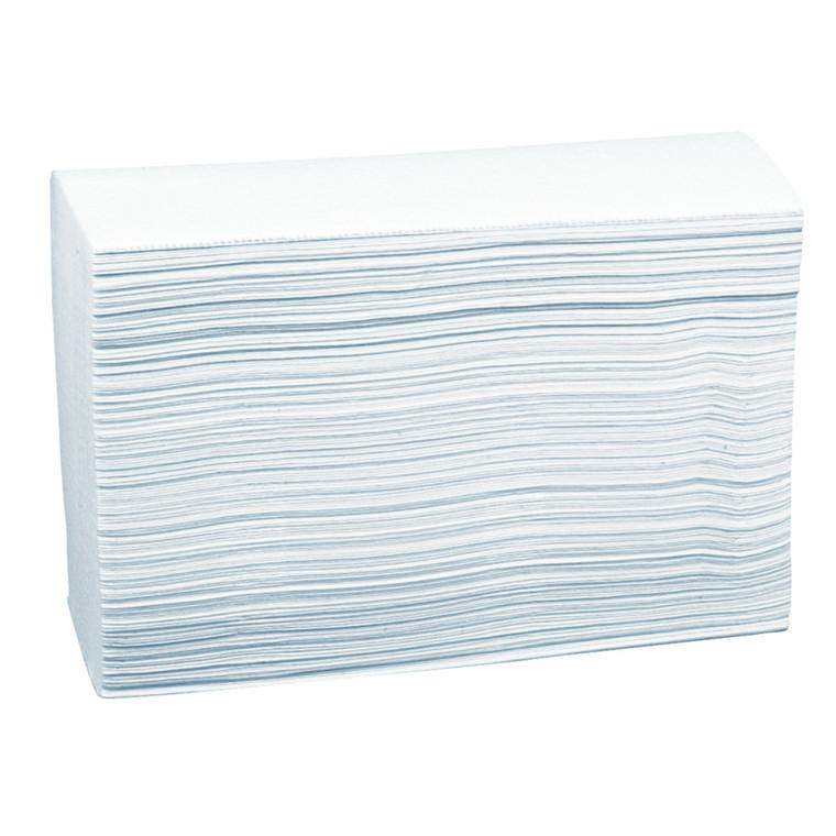 Håndklædeark, neutral, 2-lags, nonstop, 24x20,6cm, hvid