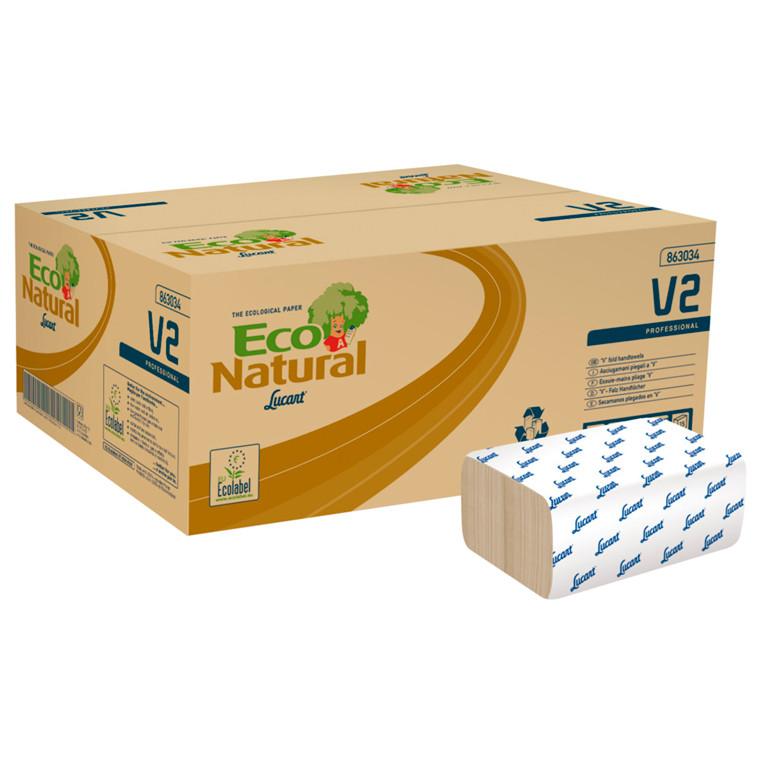 Håndklædeark T3 Natural 2-lags sand Bredde 21 cm | Længde 21 x 10,50 cm