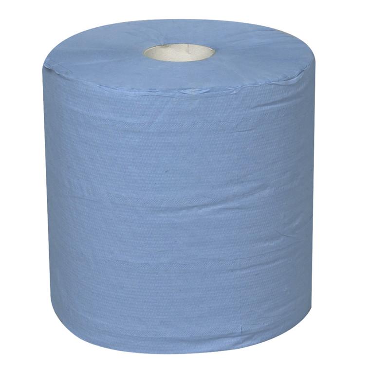 Håndklæderulle 2-lags med hylse blå midi 19,50 cm | 150 meter