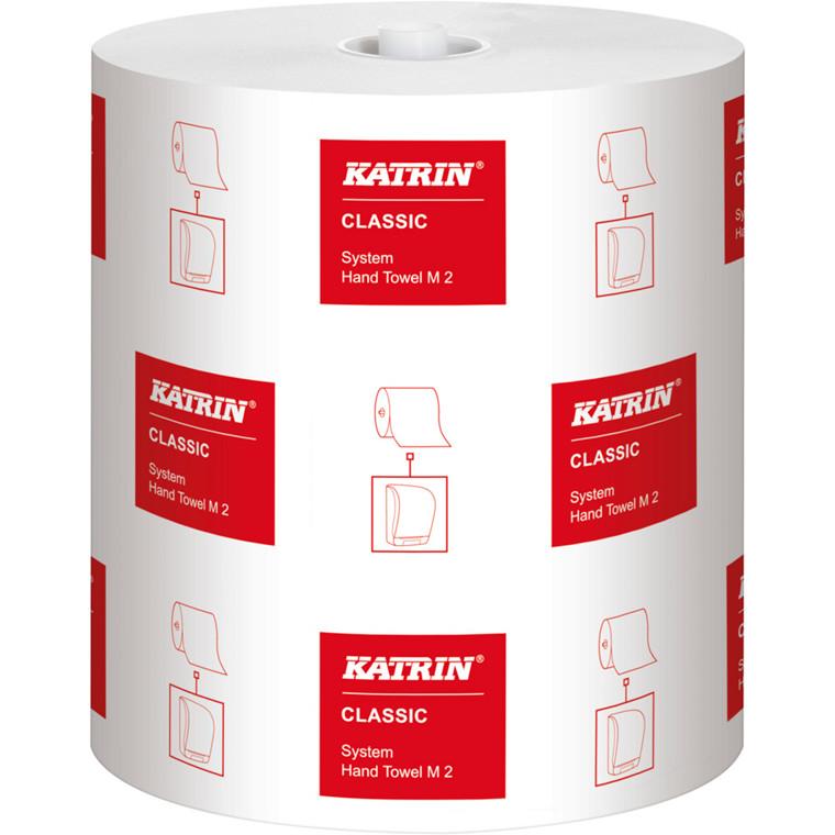 Håndklæderulle, Katrin Classic, 2-lags, 170m x 21cm, Ø19cm, hvid, blandingsfibre
