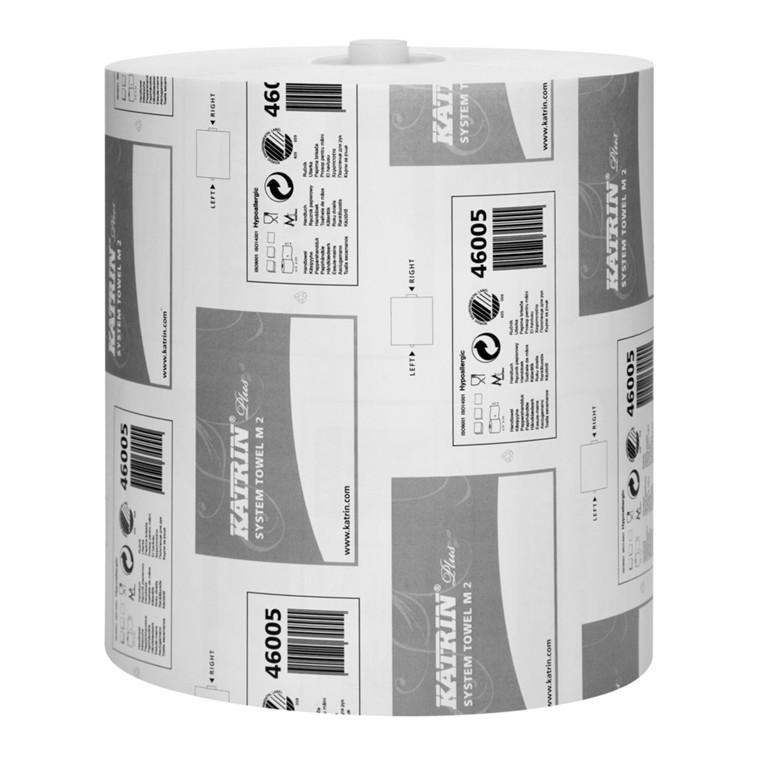 Håndklæderulle Katrin Plus hvid 2-lags med hylse 21 cm | 100 meter