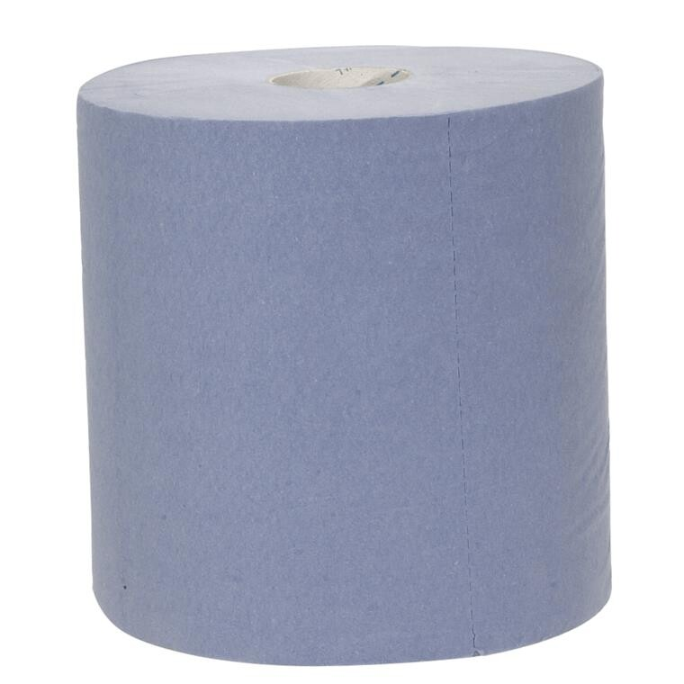 Håndklæderulle Neutral 1-lags med hylse blå midi 19,50 cm | 300 meter