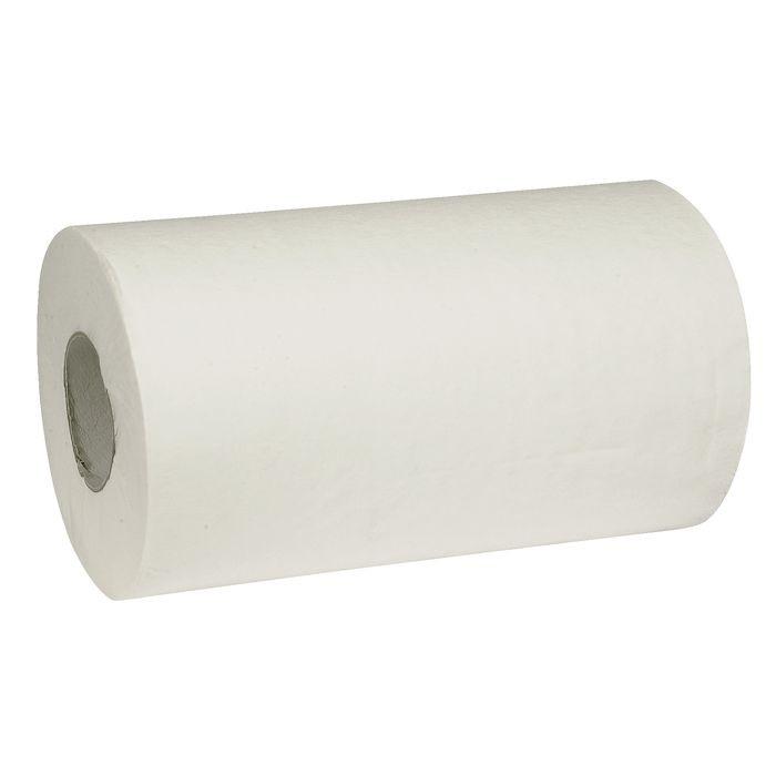 Håndklæderulle Neutral 1-lags med hylse hvid mini 20,30 cm | 120 meter