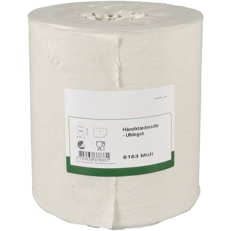 Håndklæderulle Neutral 1-lags uden hylse natur 20,50 cm - 275 meter