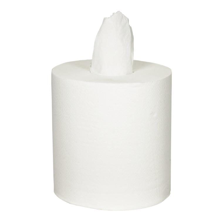 Håndklæderulle, neutral, 2-lags, Midi, 153m x 20cm, Ø19cm, hvid, 100% nyfiber, uden hylse