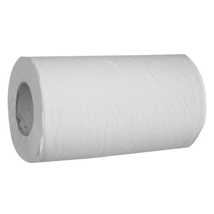 Håndklæderulle Neutral hvid 1-lags med hylse mini Bredde 20,3 cm | 120 meter