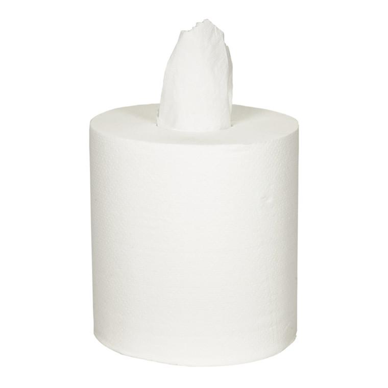 Håndklæderulle Neutral hvid 2-lags uden hylse 153 meter | 450 ark