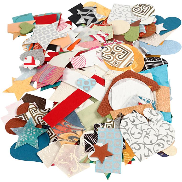 Håndlavet papir , str. 25-130 mm, 110 g/m2, 100g