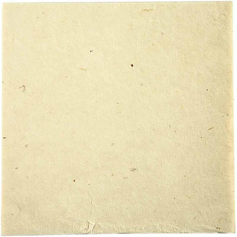 Håndlavet stofpapir ark 20 x 20 cm off-white | 10 ark