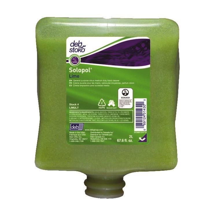 Deb Stoko Solopol Lime Håndrens LIM2LT- 2 liter refill