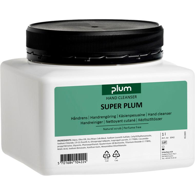 Håndrens, SuperPlum, med farve og uden parfume, 1000 ml