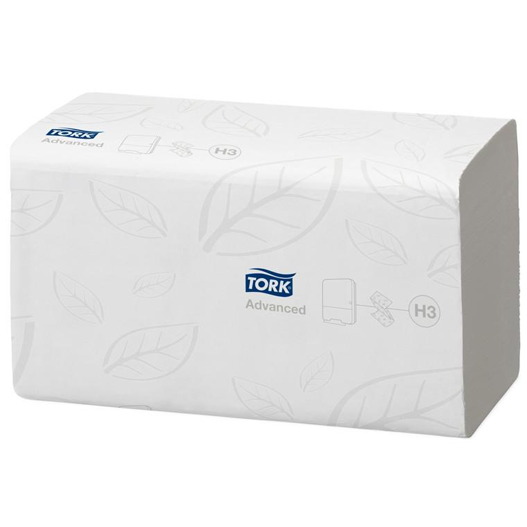 Håndklædeark flushable singlefold H3 2-lags 15x250stk