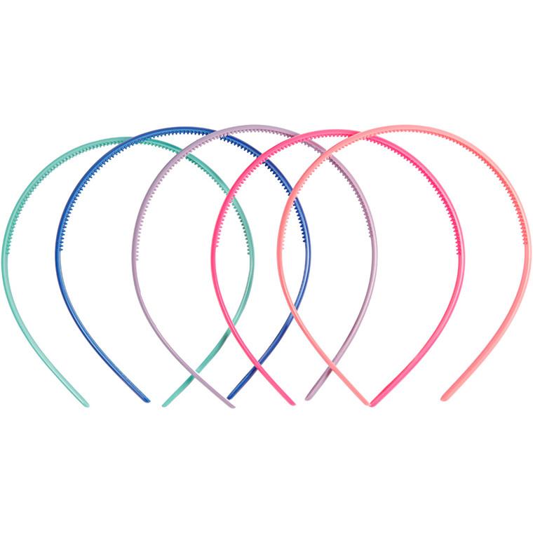 Hårbøjle , B: 8 mm, ass. farver, 5stk.