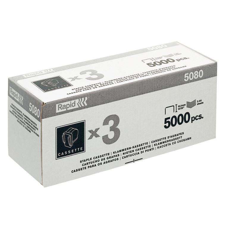 Hæfteklammekassette til Rapid 5080e - 3 x 5000 stk i æsken
