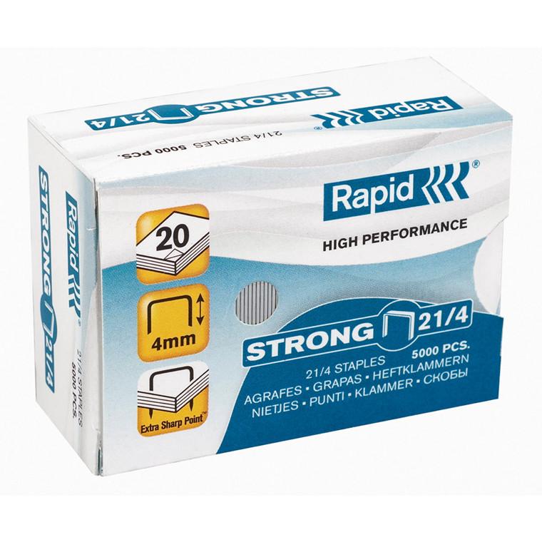 Hæfteklammer Rapid Strong galvaniserede - 21/4 5000 stk i æske