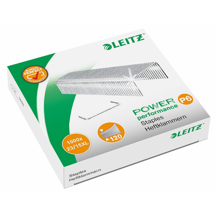 Hæfteklammer 23/15 XL Leitz - 1000 stk i æsken