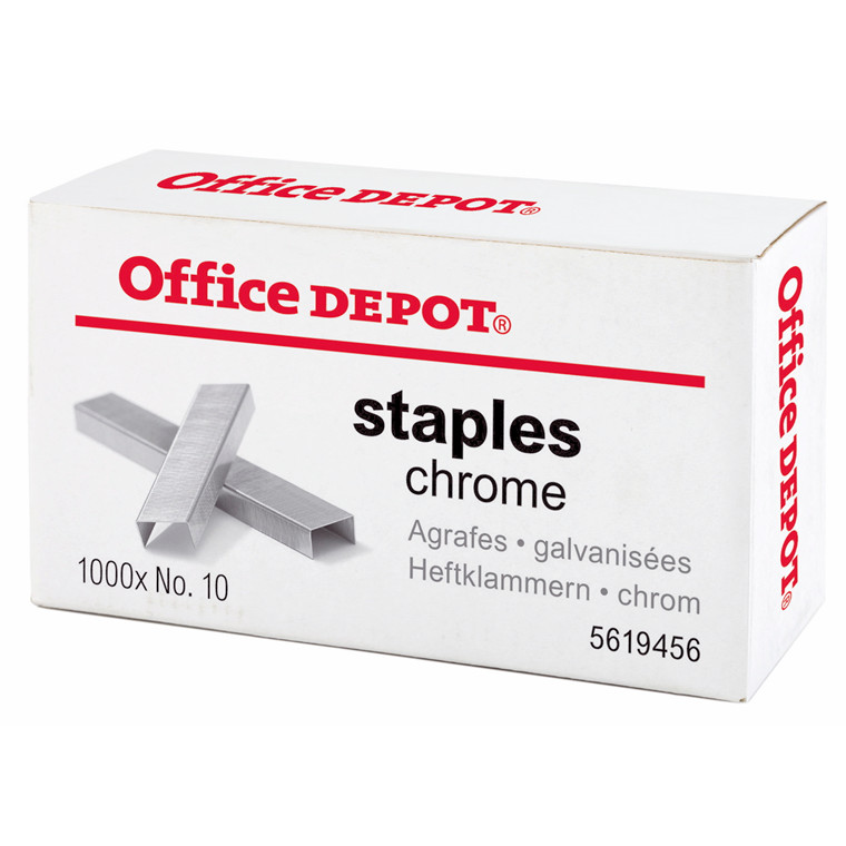 Hæfteklammer galvaniseret nr 10 - Office DEPOT 1000 stk i æsken