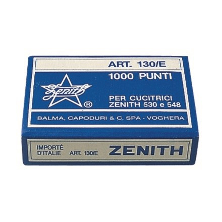 Hæfteklammer Zenith stålklammer - 130/E 1000 stk i æsken