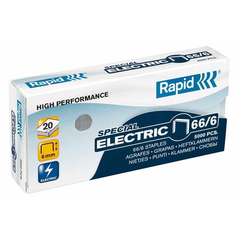 HæfteklammerRapid til el-hæfter - Rapid 66/7 5000 stk i æske