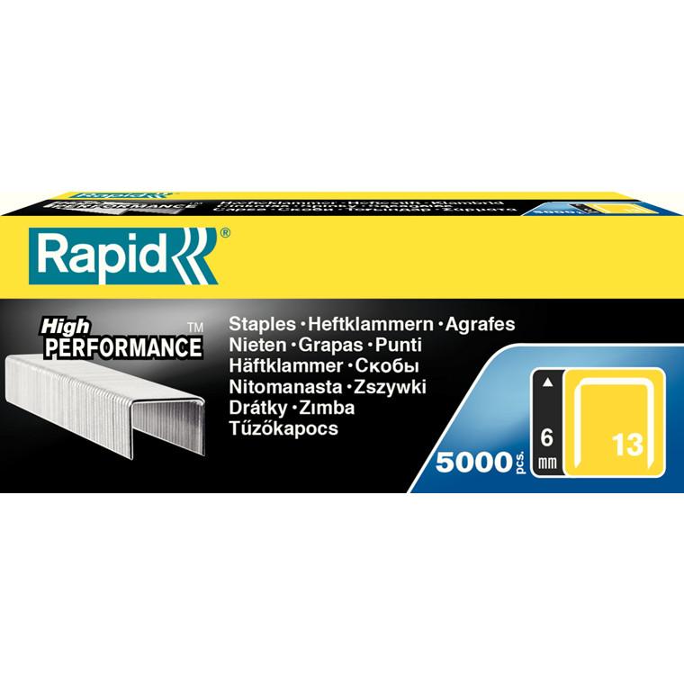 Rapid hæfteklammer til hæftepistol - Rapid 13/6 mm 5000 stk i æske