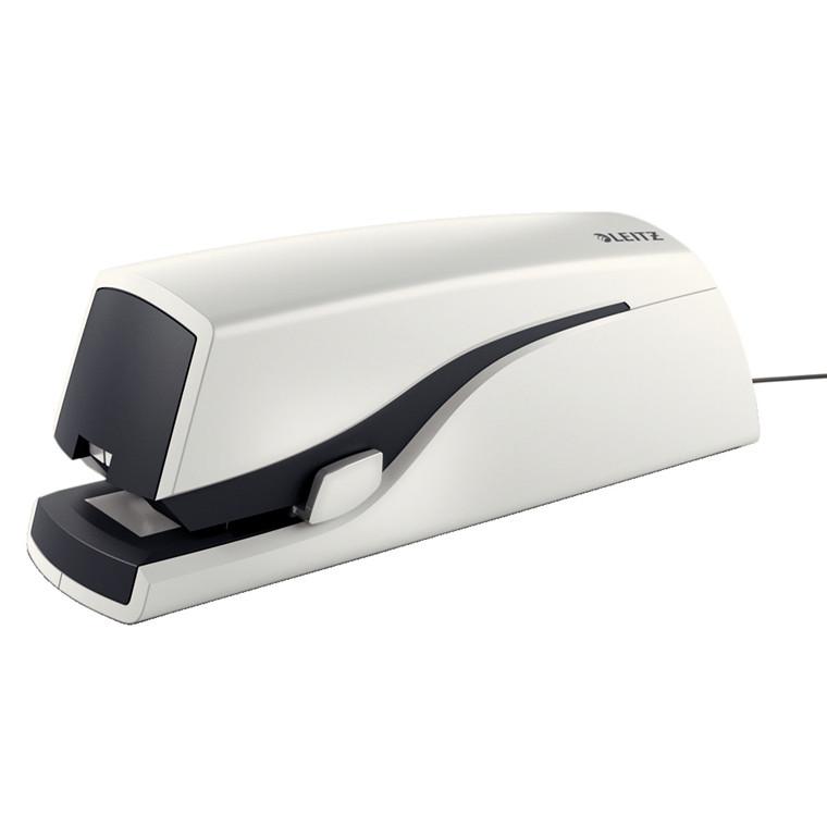 Hæftemaskine - Leitz 5533 elektrisk i hvid