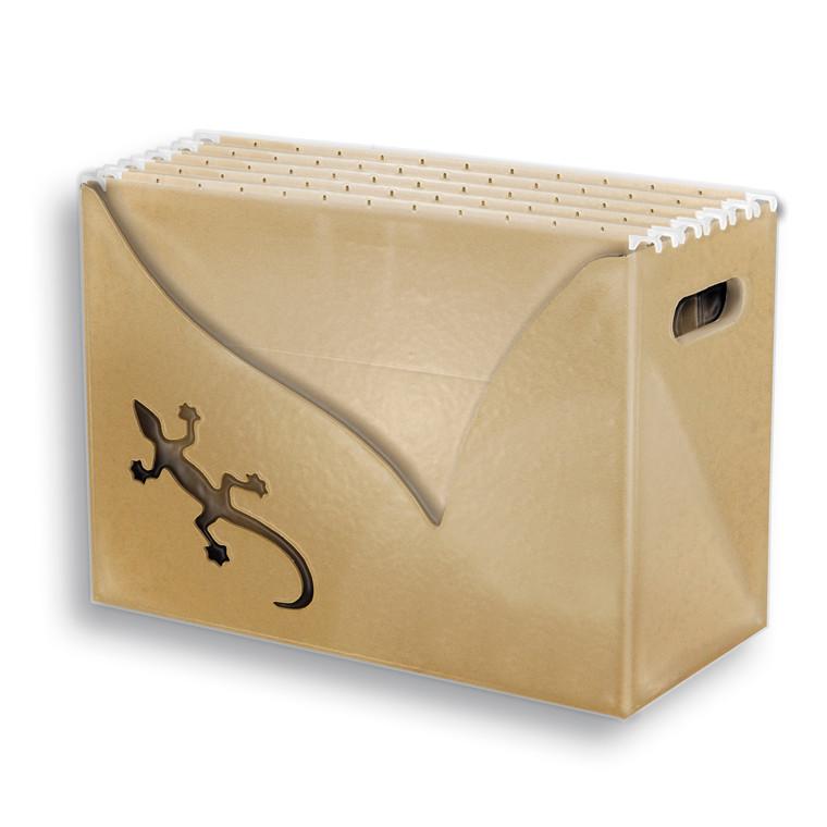 Hængemappebox Touareg sand med 5 mapper