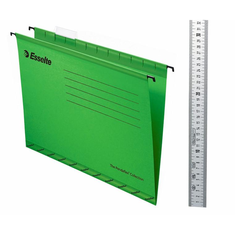 Hængemapper A4 Esselte grøn - 25 stk. pr. pakke