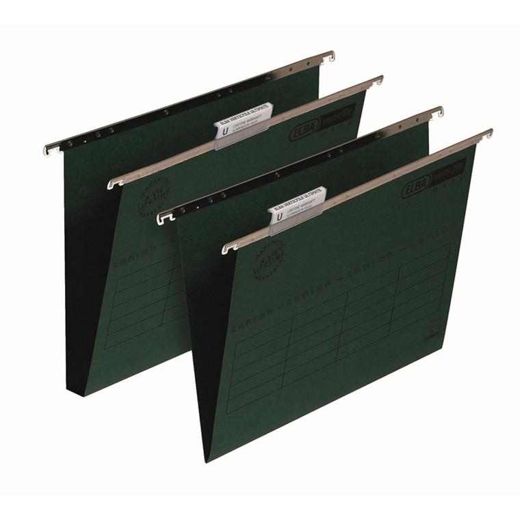 Hængemapper A4 ELBA grøn - 30 mm bund