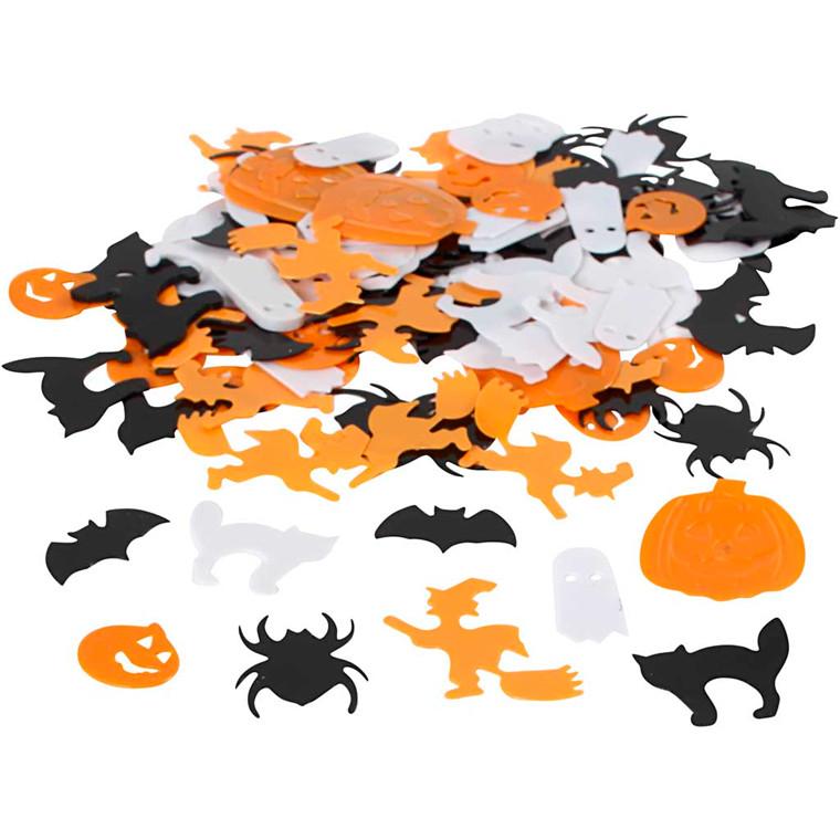 Halloween pailletmix, str. 10-20 mm, 15g