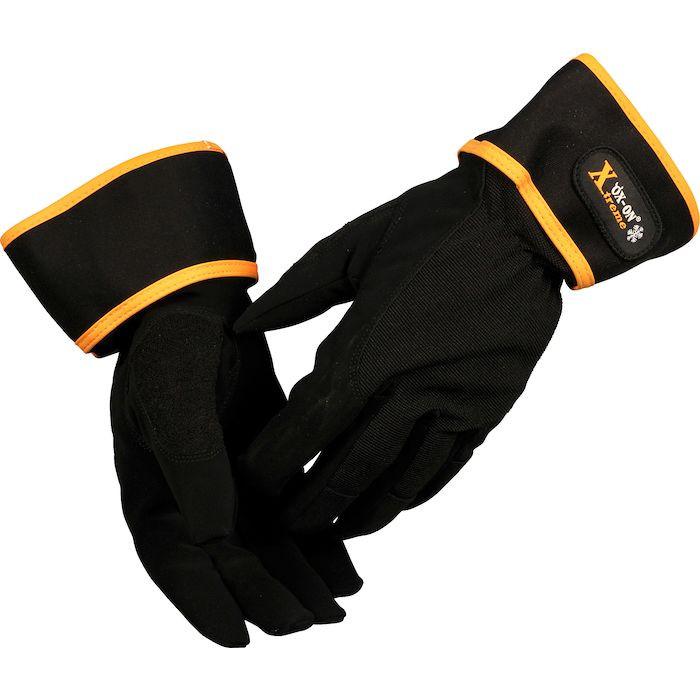 Halvdyppet PU handske, Ox-On Xtreme5, sort, syntetisk nubuck læder, PU, spandex, 10,
