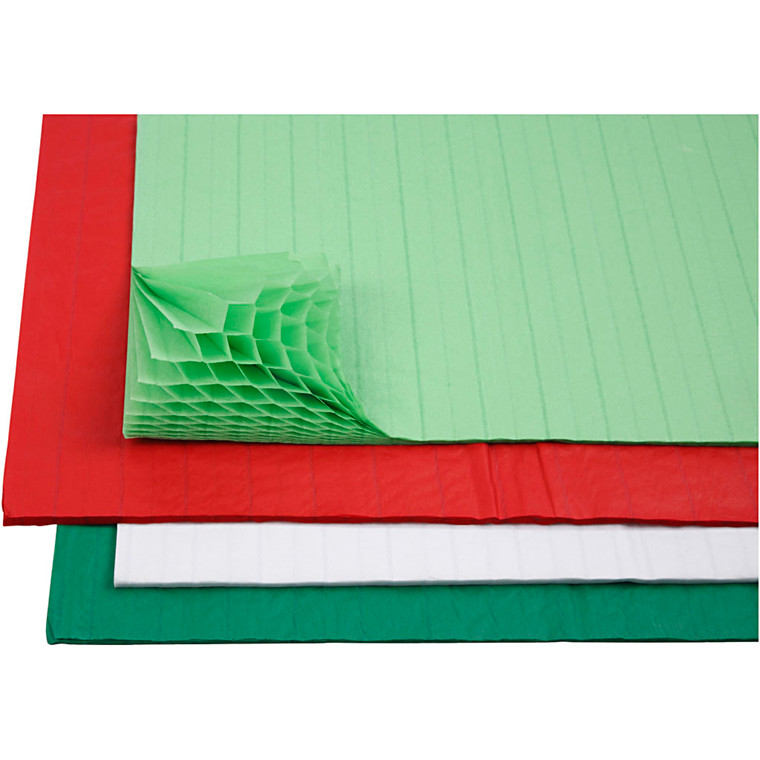 Harmonikapapir - 28 x 17,8 cm - Assorteret farver - 8 ark